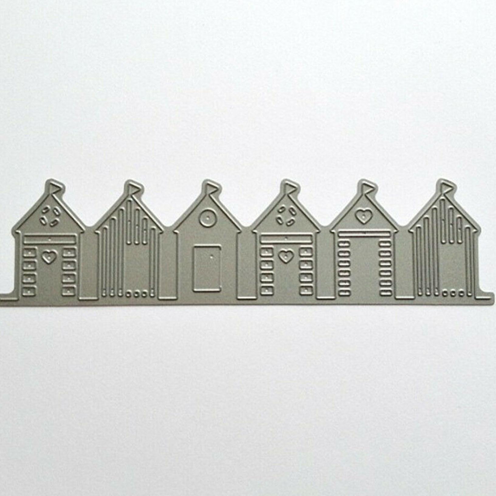 DIY Beach Houses Edge Building Stencil Cutting Scrapbooking Die Cutting Template