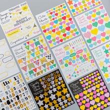 Adhesive Sticker Hand-Account Fresh Geometry DIY Children's Cartoon
