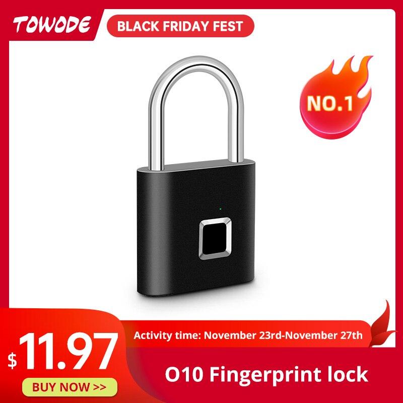 Towode Door-Lock Fingerprint USB Metal Zinc-Alloy Quick Keyless Self-Developing-Chip