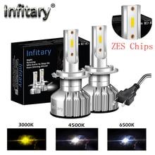 Infitary H7 светодиодный автомобилей головной светильник зэс чипы H4 H1 H3 H11 H13 9005 9006 12V 10000LM 3000K 4500K 6500K для автомобильной фары противотуманные светильник лампочка