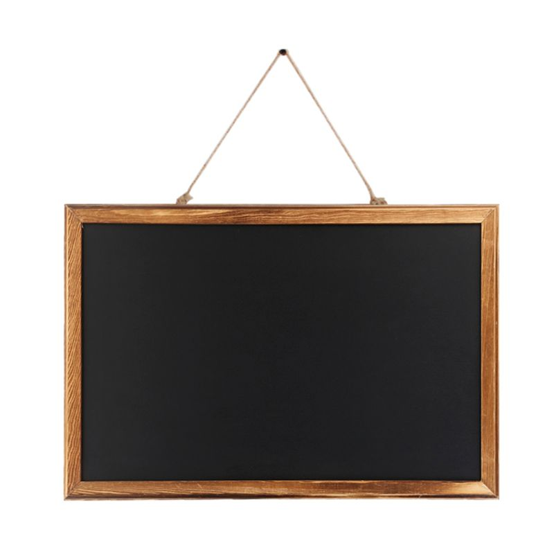 Rectangle Hanging Wooden Message Blackboard Chalkboard Wordpad Sign Kids Black Board