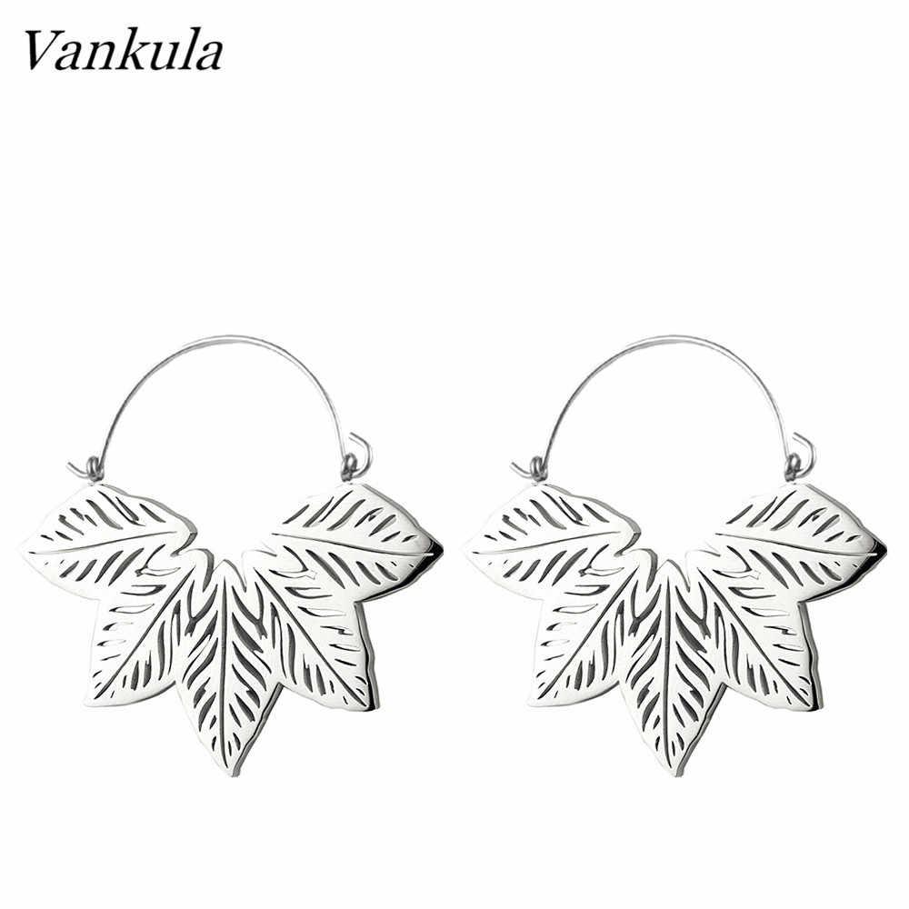 Vankula 2PCS ใหม่แฟชั่นหูอุโมงค์ Light น้ำหนักเครื่องประดับเจาะหูแขวนสแตนเลสหูปลั๊กอุโมงค์สำหรับขาย