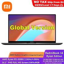 Xiaomi – ordinateur portable RedmiBook 16.1, édition Ryzen, AMD R5 4500U, 16 go DDR4, 512 go, 100% sRGB, écran 1080P