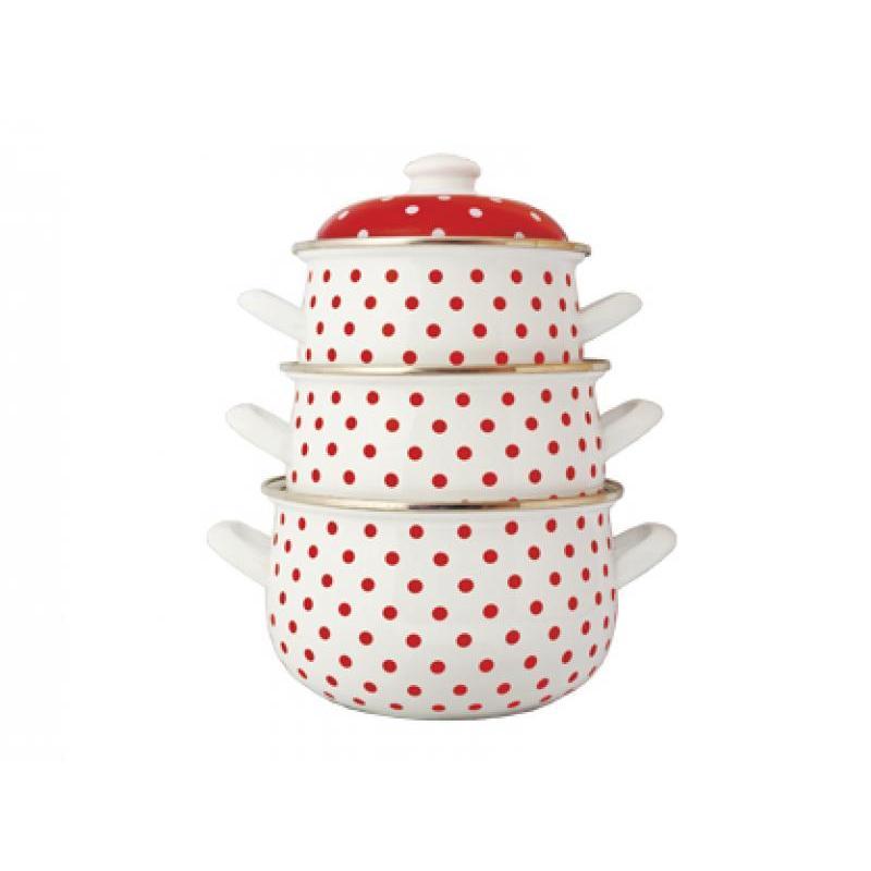 A Set Of pans Avsar, Polka Dot, 6 items polka dot bandeau tankini set