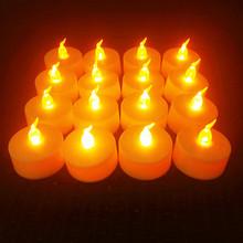 6 sztuk zasilanie bateryjne LED podgrzewacze świece bezpłomieniowe migotanie pielenie Decor świece Led z migający płomień świeca Jar tanie tanio CN (pochodzenie) Świeczka led Home decoration Świeca lampy Parafina ZWW103 6PCS