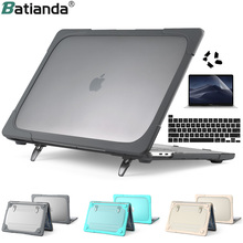 """Foldable Stand Case For Macbook Air 11 12 13 NewPro 13.3 15 16"""" 2020 A2251 A228 A2141 A2159 A1932 Hard Plastic Shockproof  Cover"""