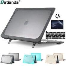 """Składany stojak przypadku dla Macbook Air 11 12 13 NewPro 13.3 15 16 """"2020 A2251 A2338 M1 A2159 A1932 z twardego tworzywa sztucznego, odporna na wstrząsy pokrywa"""