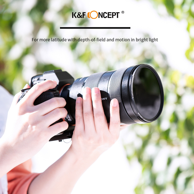 K&F Concept HD ND8 Filter Camera Lens Multi-Resistant Nano X Coating Filter Density 49mm 52mm 58mm 62mm 67mm 72mm 77mm 82mm 3