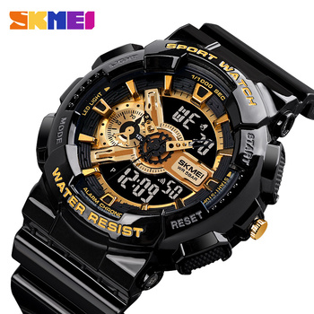 SKMEI Youth Fashion Digital Watch Men Shockproof Waterproof Dual Wristwatches LED Chrono Alarm Clock Mens Watches Cool Hour 1688