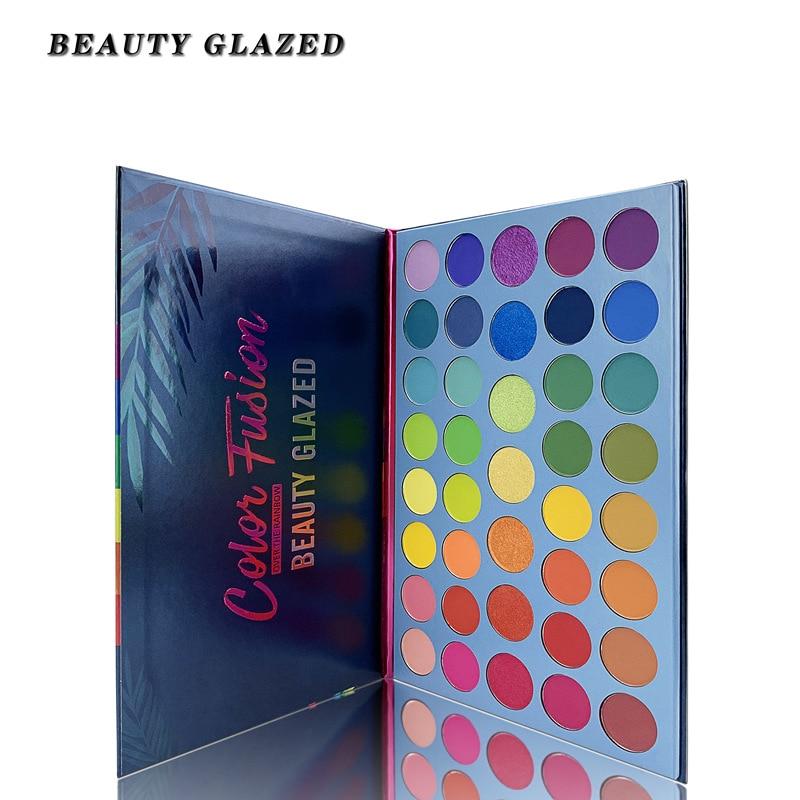 Beauty Glazed Pressed Glitter Eyeshadow Pallete Makeup Matte Eyeshadow Palette Shimmer Matte Glitter Eye Shadow Pallette TSLM1