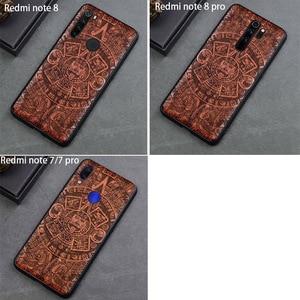 Image 5 - Phone Case For Xiaomi redmi note 8 pro Real Wood TPU Case For Xiaomi Redmi Note 7 Redmi Note 8 Pro Phone Accessories