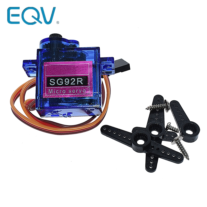 EQV SG92R 2.5KG Micro 9g Servo Nylon Carbon Fiber Gears Replace SG90 For RC Model Aeromodelling Helicopter Parts