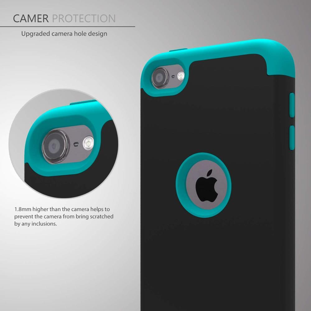iPod Touch 7 / Touch 6 için Kılıf, Yüksek Etkili Ağır Darbeye - Cep Telefonu Yedek Parça ve Aksesuarları - Fotoğraf 3