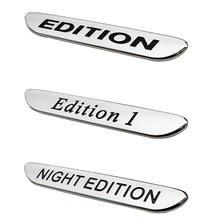 3D Night Edition 1 Emblem Front Fender Sticker For Mercedes Benz A B C E S Class W202 W204 W210 W211 W220 W221 W168 Car Styling
