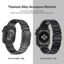 For Apple Watch Band 40mm 44mm Titanium Alloy Metal Bands 38mm Three Links Bracelet for iWatch Series 1 2 3 4 5