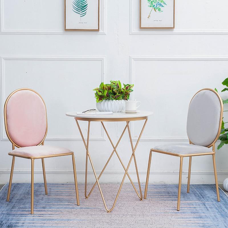 Pink Nordic Dining Chair Cheap Light Extravagant Makeup Chair Modern Restaurant Chairs Living Room Furniture Cadeira Armchair