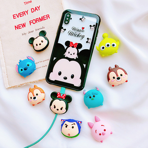 Image 5 - Wholesale Socket Car Phone Holder Cartoon Protector Cable Cord Saver Cover Coque For iPhone 8 Plus 5 5S SE 5C 6 6S 7 X Xs Max XR