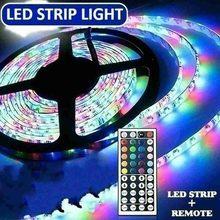 2/3/5M 12V Tira CONDUZIDA RGB Remoto Fita Corda Fita Fita Flexível SMD 3528 Diodo conjunto Fita Led Rgb Tira Levou Cinto Luz de controle
