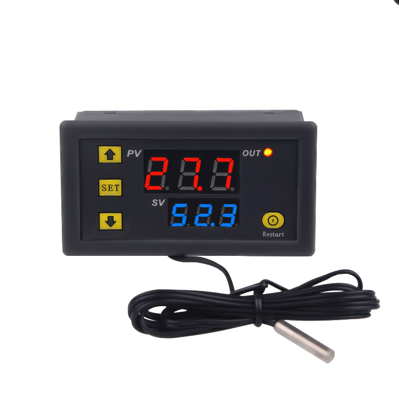 Mini Digital Temperature Controller DC12V AC110-220V Thermostat Regulator Heating Cooling Control Thermoregulator With Sensor