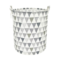 19.7 Inch Large Sized Waterproof Foldable Laundry Hamper Bucket with Handles for Storage Bin Kids Room Home Organizer Nursery St