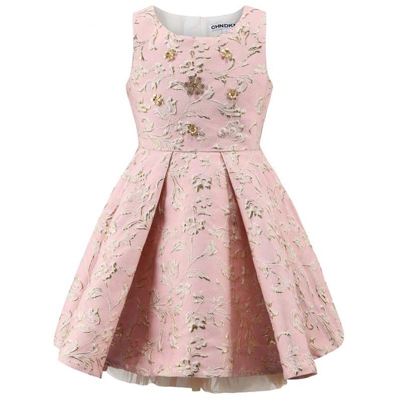 Детское платье принцессы, без рукавов, на Возраст 3-10 лет