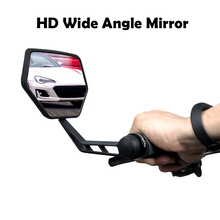 EasyDo 1 Pair Bicycle Rear View Mirror Bike Cycling Wide Range Back Sight Reflector Adjustable Bar End Mirrors Save Space