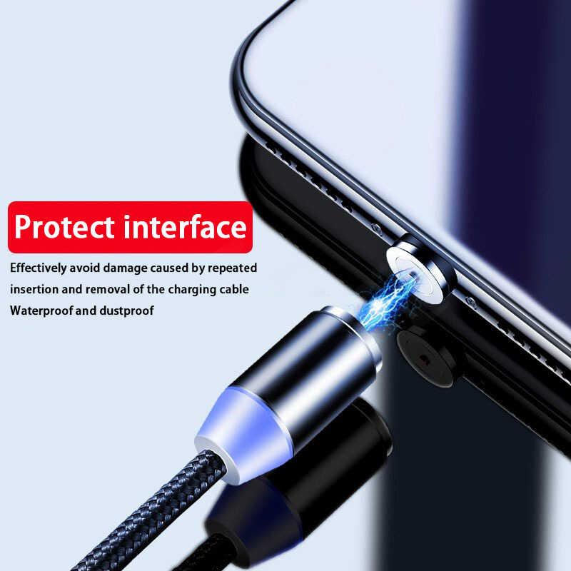 أولاف كابل مغناطيسي ل فون XS ماكس XR المغناطيسي شاحن سريع شحن المصغّر USB نوع C كابل المغناطيس شاحن USB شحن سلك