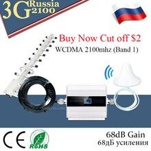 3g усилитель WCDMA 2100 мобильный усилитель сигнала UMTS 2100 МГц GSM 3G сотовый телефон повторитель сигнала