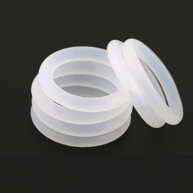 Ø1.5mm Cross Section Food Grade White Silicone Rubber O-Ring Seal Gasket Washers