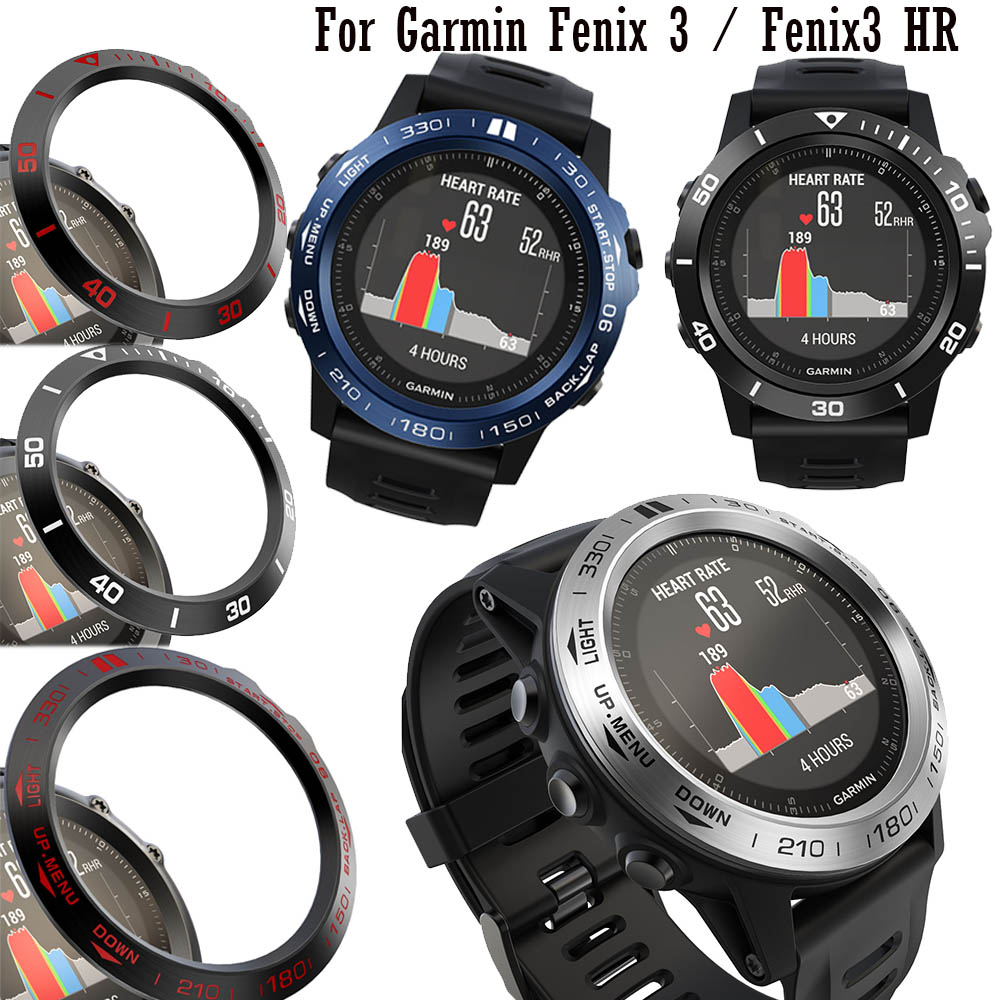 For Garmin Fenix 3 Fenix 3 HR Frame Stainless Steel Smartwatch Case Bezel Ring Styling Adhesive Protective Shell Cover Cases New