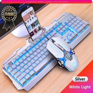 Image 3 - Gaming Keyboard Gaming Mouse Mechanical Feeling RGB LED Backlit Gamer Keyboards USB Wired Keyboard for Game PC Laptop Computer