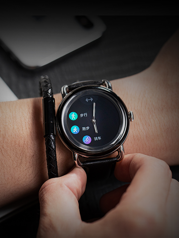 Smart-Watch Activity-Tracker Hybrid Amoled-Display Ios-Phones Crystal Sapphire Android