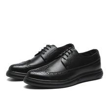 Genuine Leather Dress Men Shoes Lace Up Men Oxfords Business