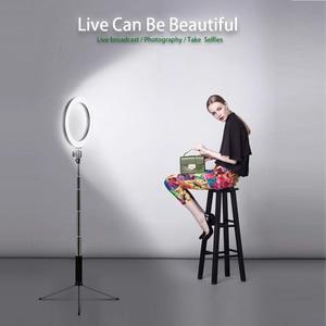 Image 2 - LEDGLE USB רצפת מנורת LED 10 Dimmable גובים סטנד מנורות תמונה למלא טבעת אורות עבור איפור רב פונקציה העין הגנת אור
