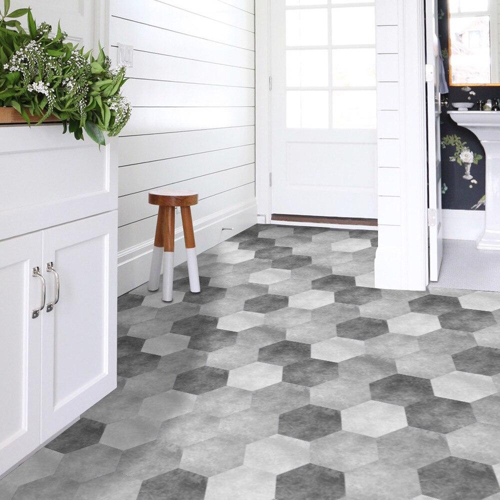 Wall Decor Waterproof Bathroom Floor Stickers Peel Stick Self Adhesive  Floor Tiles,Kitchen Room Home Decor Non Slip Floor Decal