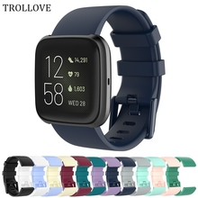 Sport-Band Bracelet-Strap Replacement Fit-Bit Smart-Watch Versa Silicone for Wrist