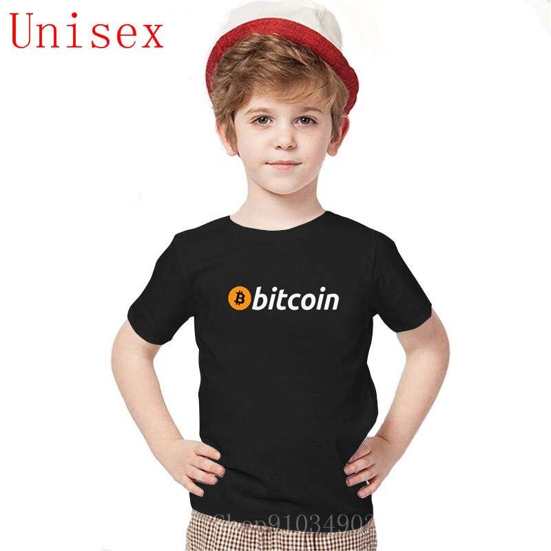 Bitcoin Original Logo Children T Shirt Print Short Sleeve New High Quality kids T Shirts boys clothes  teen girls clothing 1