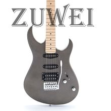 цена на High Quality AST Style Electric Guitar Gray Color Tremolo Bridge Maple Neck