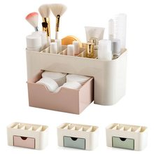 Acrylic Makeup Box Organizers Large Capacity Jewelry Cosmetic Storage Box With Drawer Plastic Lipstick Holder Sundries Container(China)