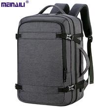 Business Backpacks Men Shoulder Bags Multi layers large capacity USB Travel  commuting Oxford strong School laptop bag pack