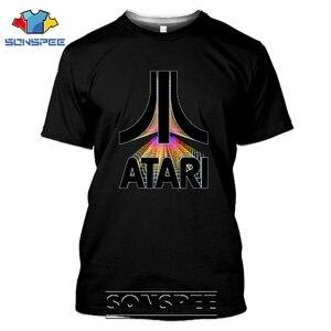 SONSPEE 3D Print Men Women Atari T-shirts Casual Streetwear Harajuku Hip Hop Vintage Arcade Funny Retro Game Tees Tops Shirt