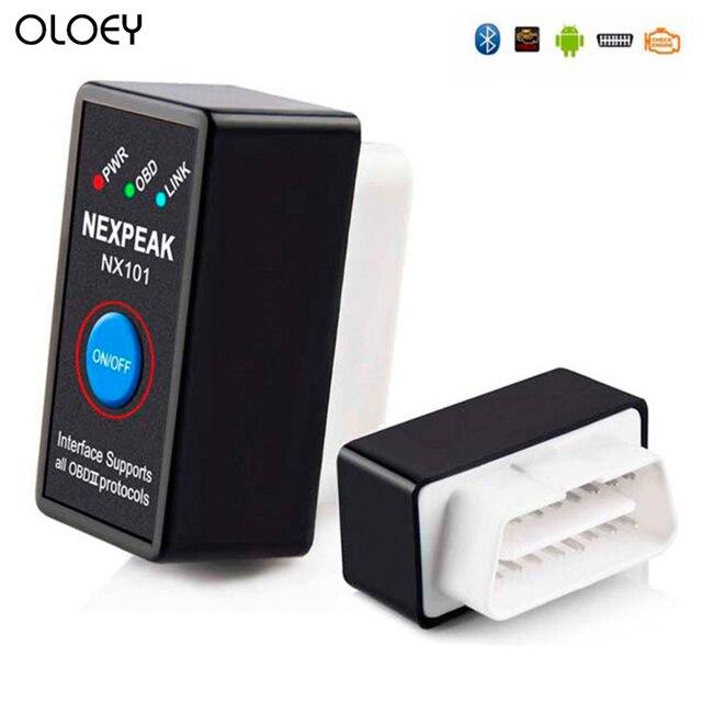 OLOEY – Mini outil de Diagnostic automobile, Bluetooth V1.5, Elm327, lecteur de code, prise OBD2, NX101