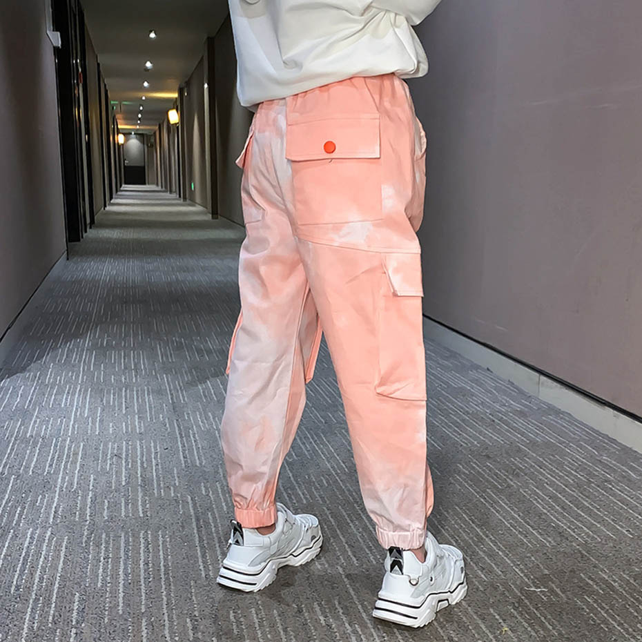 Pants For Girls Solid Pants Girls Fashion Drawstring Child Trouser Teenage Child Girl Cargo Pants For Kids Clothes 8 10 12 6