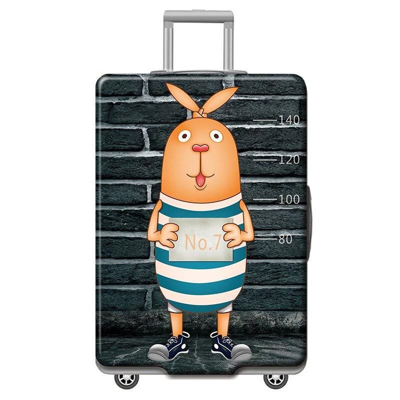 HMUNII карта мира, дизайнерский защитный чехол для багажа, Дорожный Чехол для чемодана, эластичные пылезащитные Чехлы для 18-32 дюймов, аксессуары для путешествий - Цвет: R-Luggage cover