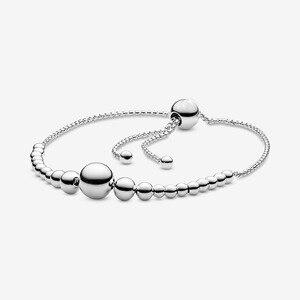Original 100% 925 prata esterlina cadeia de contas slider pulseira se encaixa marca europeia charme contas diy fazendo