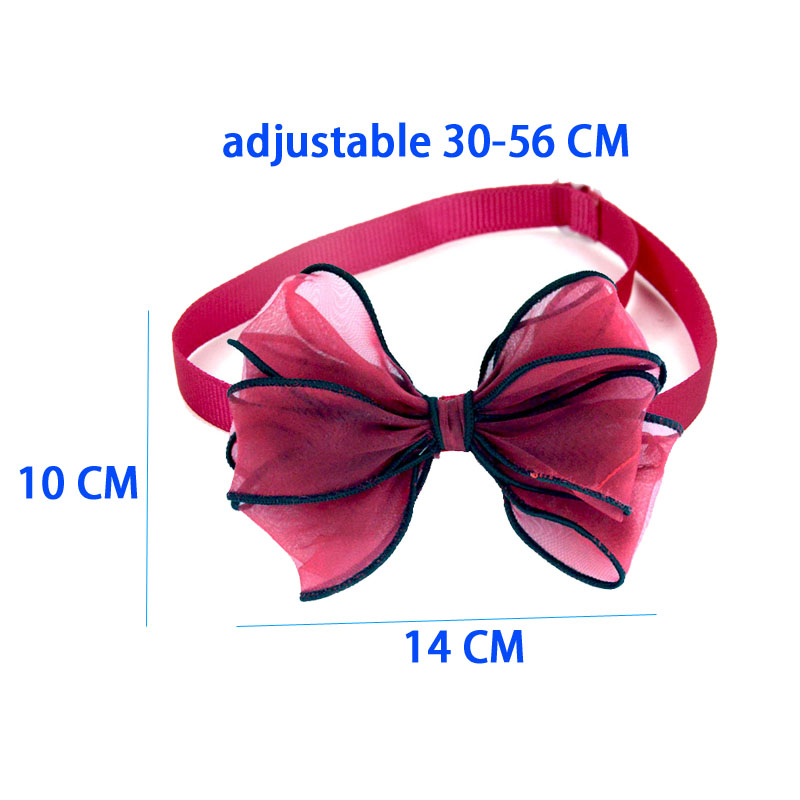 10 PCS Big Cats Dog Bow Tie Pet Dogs Bowtie Collar Holiday Decoration Acciessories Christmas Grooming Big Pet Supplies 10 Colors