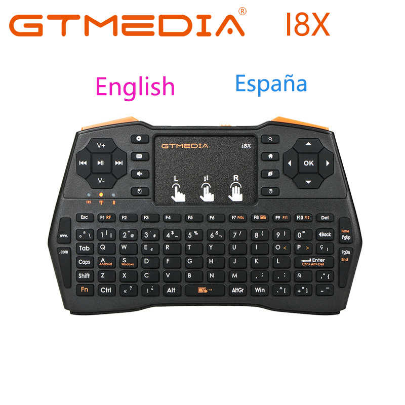 Gtmedia Originele I8X Engels Spanje Versie I8 + 2.4Ghz Wireless Keyboard Air Mouse Touchpad Handheld Voor Android Tv Box mini Pc