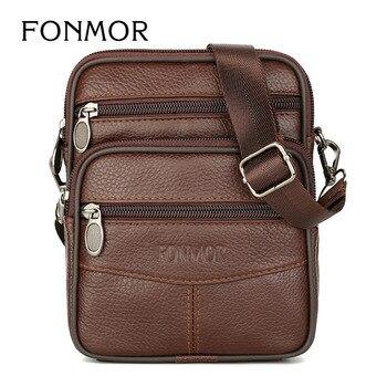Genuine Leather Men Shouler Bags Genuine Leather Men Crossbody Bags Flap Bag High Quality Belt Bag Messenger Bag