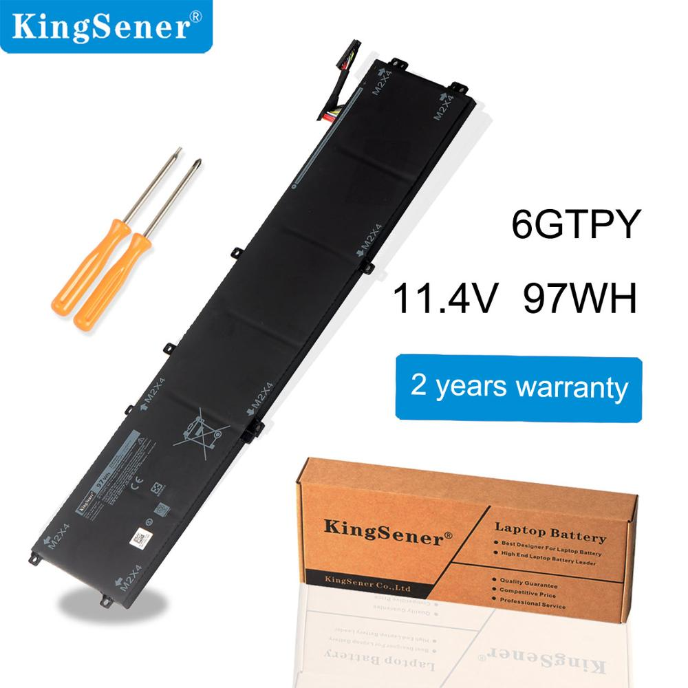 KingSener New 11.4V 97WH 6GTPY Laptop Battery For DELL Precision 5520 5530 For DELL XPS 15 9570 9560 Series Notebook