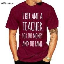 O dinheiro ea fama camiseta masculino inglês professor de matemática presente idéia manga curta novidade t o pescoço algodão topos mais tamanho t camisa